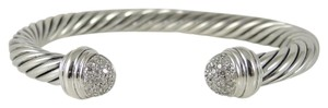 David Yurman David Yurman Sterling .35tcw 7mm Pave Dome Diamond Cable Bracelet
