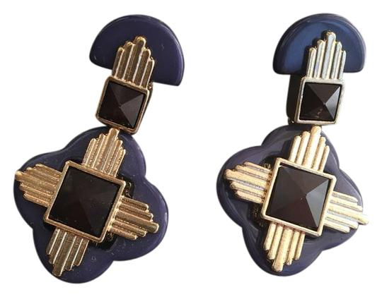 Preload https://img-static.tradesy.com/item/21202200/tory-burch-black-gold-blue-cross-earrings-0-1-540-540.jpg