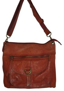 Fossil Leather Distressed Cross Body Bag