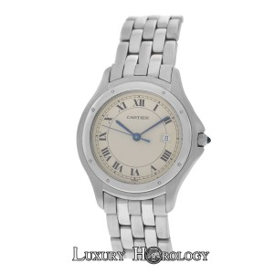 Cartier Mint Unisex Large 32MM Cartier Panthere Cougar 120 000 R Steel Quartz