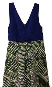 Anthropologie short dress blue and green on Tradesy