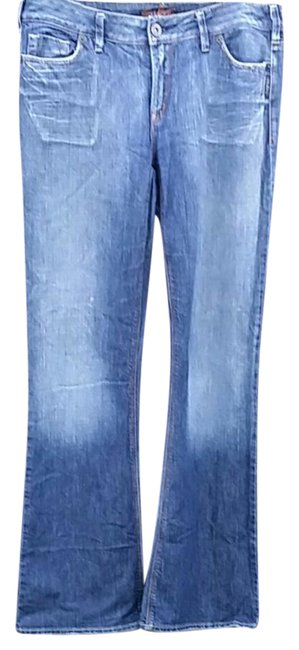 Item - Blue Distressed Suki Boot Cut Jeans Size 31 (6, M)