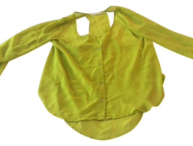 Preload https://img-static.tradesy.com/item/21202291/lush-neon-yellow-cut-out-sheer-silky-blouse-size-4-s-0-1-650-650.jpg