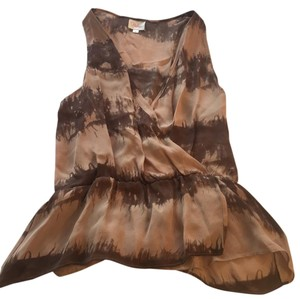 Parker Top Brown/Taupe tie dye