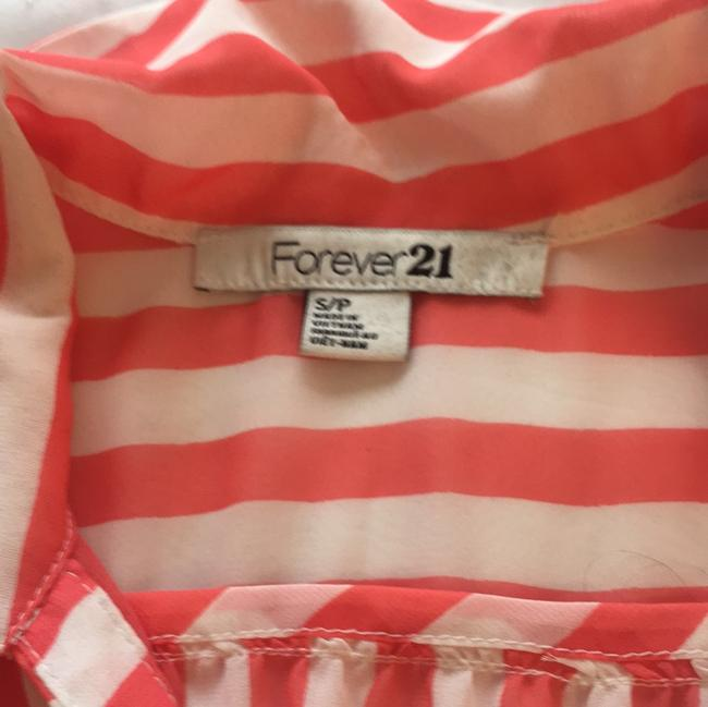 Forever 21 Top Sorbet, orange and white