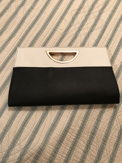 Other two tone cream/black Clutch