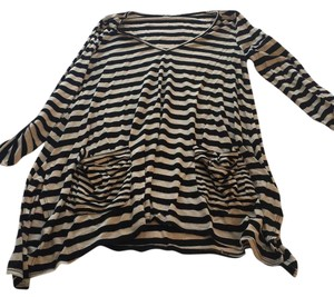 Ella Moss T Shirt Black stripes