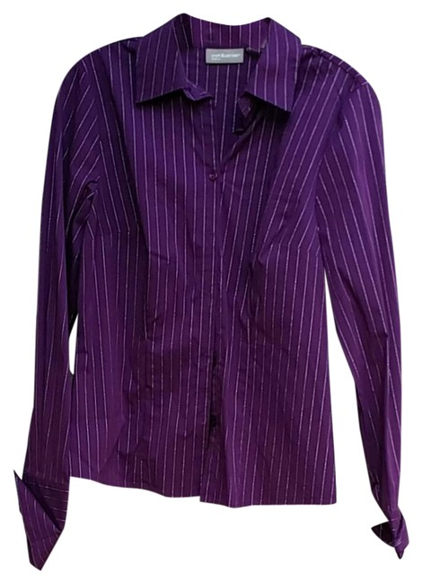 Preload https://img-static.tradesy.com/item/21202377/croft-and-barrow-purple-metallic-button-down-top-size-6-s-0-1-650-650.jpg
