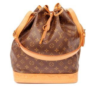 Louis Vuitton Noe Gm Monogram Canvas Leather Hobo Tote in Brown