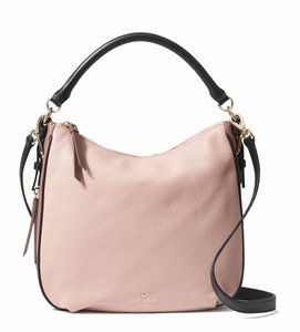 Kate Spade Small Ella Deep Truffle Pebble Leather Shoulder Bag