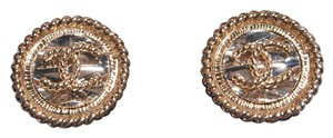 Chanel BN Chanel CC Round Gold Stud Earrings