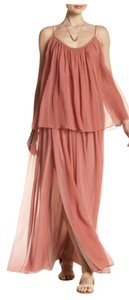 Peach Maxi Dress by Elizabeth and James Silk Spaghetti Straps Sleeveless Scoop Neck Jeans
