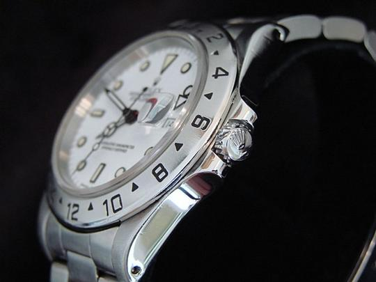 Rolex Mens Rolex Stainless Steel Explorer II White 16570