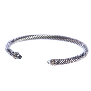 David Yurman Cable Classics Bracelet with Prasiolite 5mm Sz Medium $625 NEW