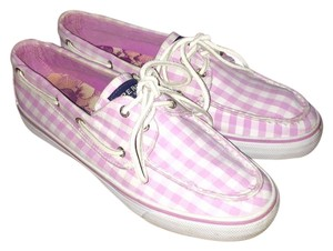 Sperry Boat Checkered Top Sider Checker Board Pink Athletic