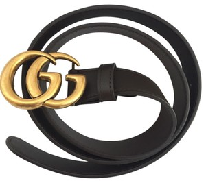 Gucci Gucci leather double G buckle belt
