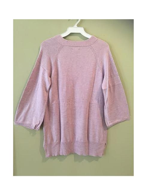 7 For All Mankind Purple Coral Blue Off White Sweater Sweatshirt