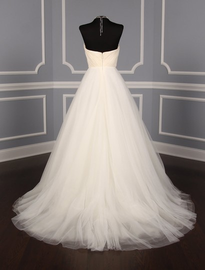 Romona Keveza Light Ivory Silk Organza and Tulle L561 Formal Wedding Dress Size 10 (M)