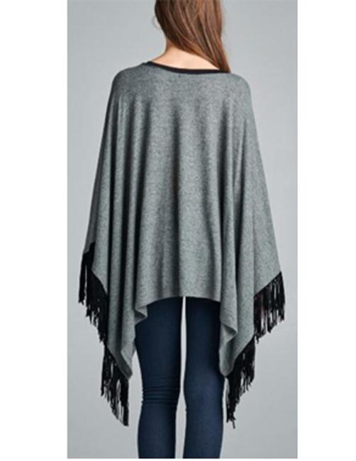 Triatria Tua Tassel Fringe Tunic Top Grey