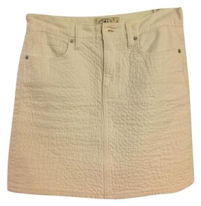 Lucky Brand Pattern Lucky Mini Mini Skirt white