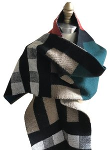 Burberry Check Wool & Cashmere Blanket Scarf