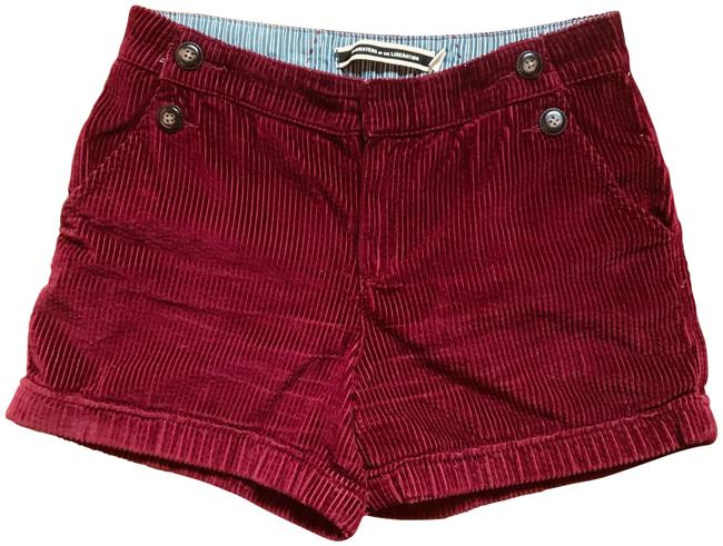 Item - Maroon Daughters Of The Liberation Wide-wale Roll-ups Shorts Size 6 (S, 28)