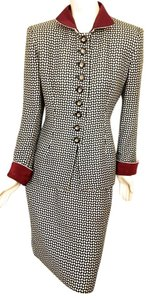 Dior STUNNING VINTAGE CHRISTIAN DIOR HAUTE COUTURE BOUCLE SUIT, SIZE 8