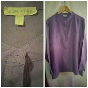 Eileen Fisher Button Down Shirt Purple