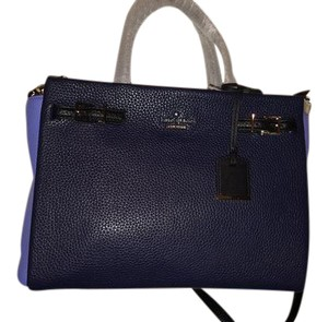 Kate Spade Satchel in Navy blue, light blue and black with gold hardware
