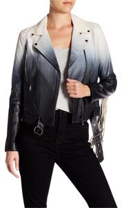 Haute Hippie Motorcycle Ombre Fringed Motorcycle Jacket