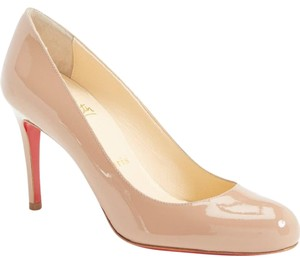 Christian Louboutin Simple Patent Nude Pumps