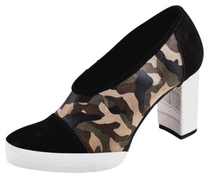 ALL BLACK Black/Camo Pumps