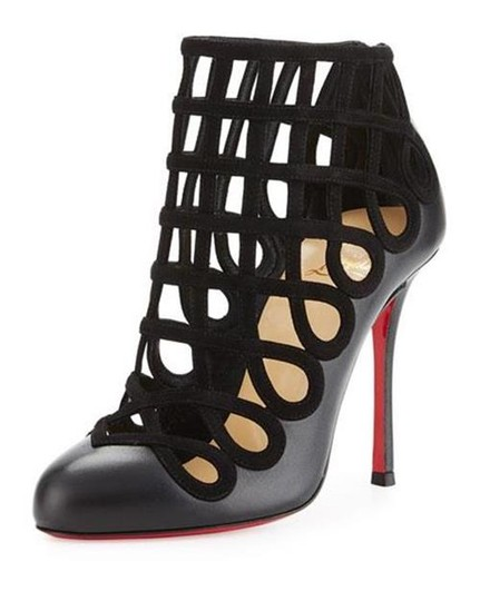 Preload https://img-static.tradesy.com/item/21203106/christian-louboutin-black-cajaboot-caged-leather-suede-heels-sandals-bootsbooties-size-us-8-0-0-540-540.jpg