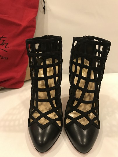 Christian Louboutin Caged Cajaboot Heels Black Boots