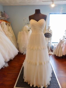 Ivory/Silver 2804 Wedding Dress Size 12 (L)