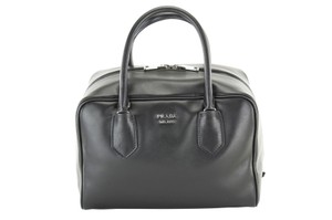 Prada Women Bags Leather Tote in Black, Pink