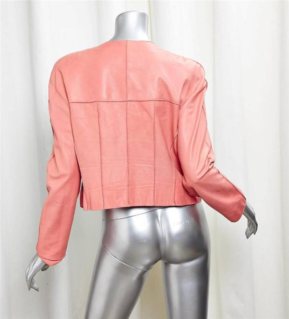 Chanel Lambskin CORAL Leather Jacket