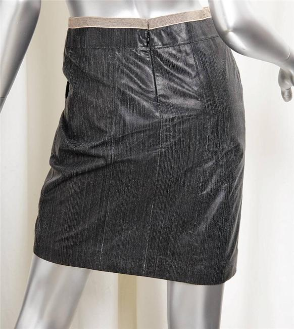 Chanel Leather Skirt black