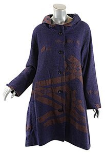 Matsuo International Matsuo Japan Wool Blend Abstract Coat