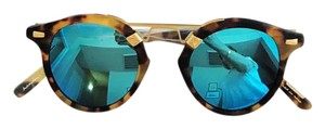 KREWE du optic St Louis mirrored blue gold sunglasses