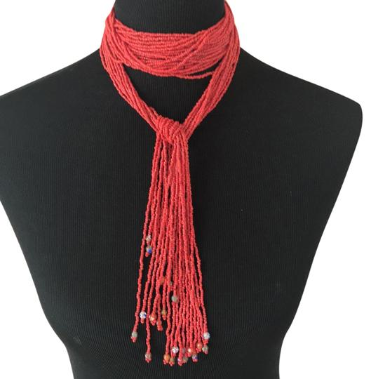 Preload https://img-static.tradesy.com/item/21203414/coral-with-glass-beads-beaded-necklace-0-1-540-540.jpg