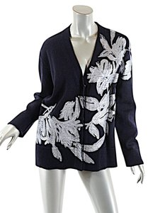 Dries van Noten Handpainted Floral Fauna Cardigan