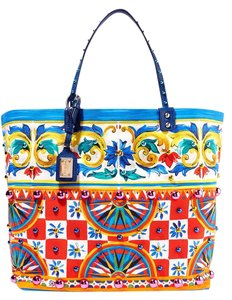 Dolce&Gabbana Dolce And Gabbana Mambo Printed Canvas New Beatrice Tote in multi
