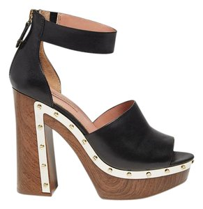BCBGMAXAZRIA Clog Wood Bcbg Black Platforms