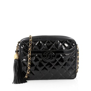 Chanel Vintage Camera Patent Leather Cross Body Bag