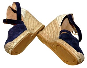 Cordani Blue Suede Wedges