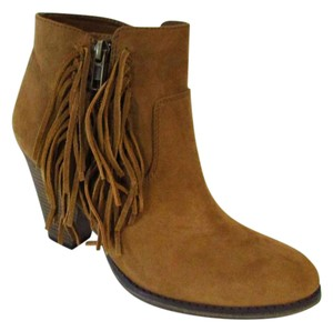 MIA Suede Leather Fringe Tan Boots