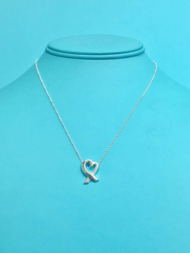 Tiffany co sterling silver stunning paloma picasso loving heart sterling silver stunning paloma picasso loving heart pendant 16 necklace aloadofball Image collections