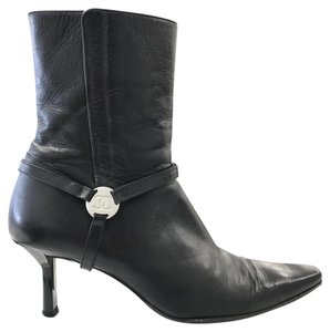 Chanel Leather Classic Black Boots