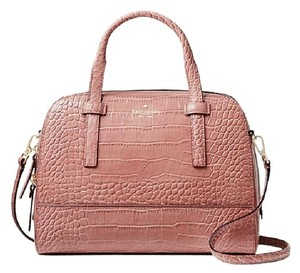 Kate Spade Pink Croc Satchel in Rose Frost